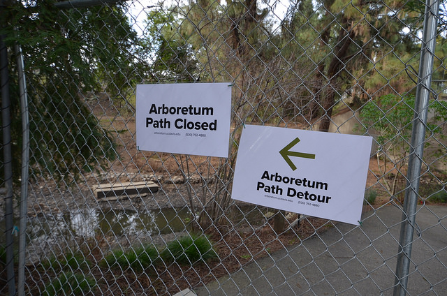 Arboretum Waterway construction begins