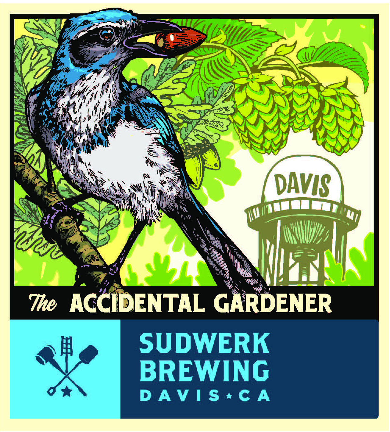 "Image of Sudwerk's ""The Accidental Gardener"" beer label."