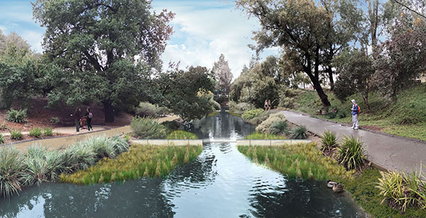 Phase one: Arboretum Waterway Maintenance and Enhancement Project