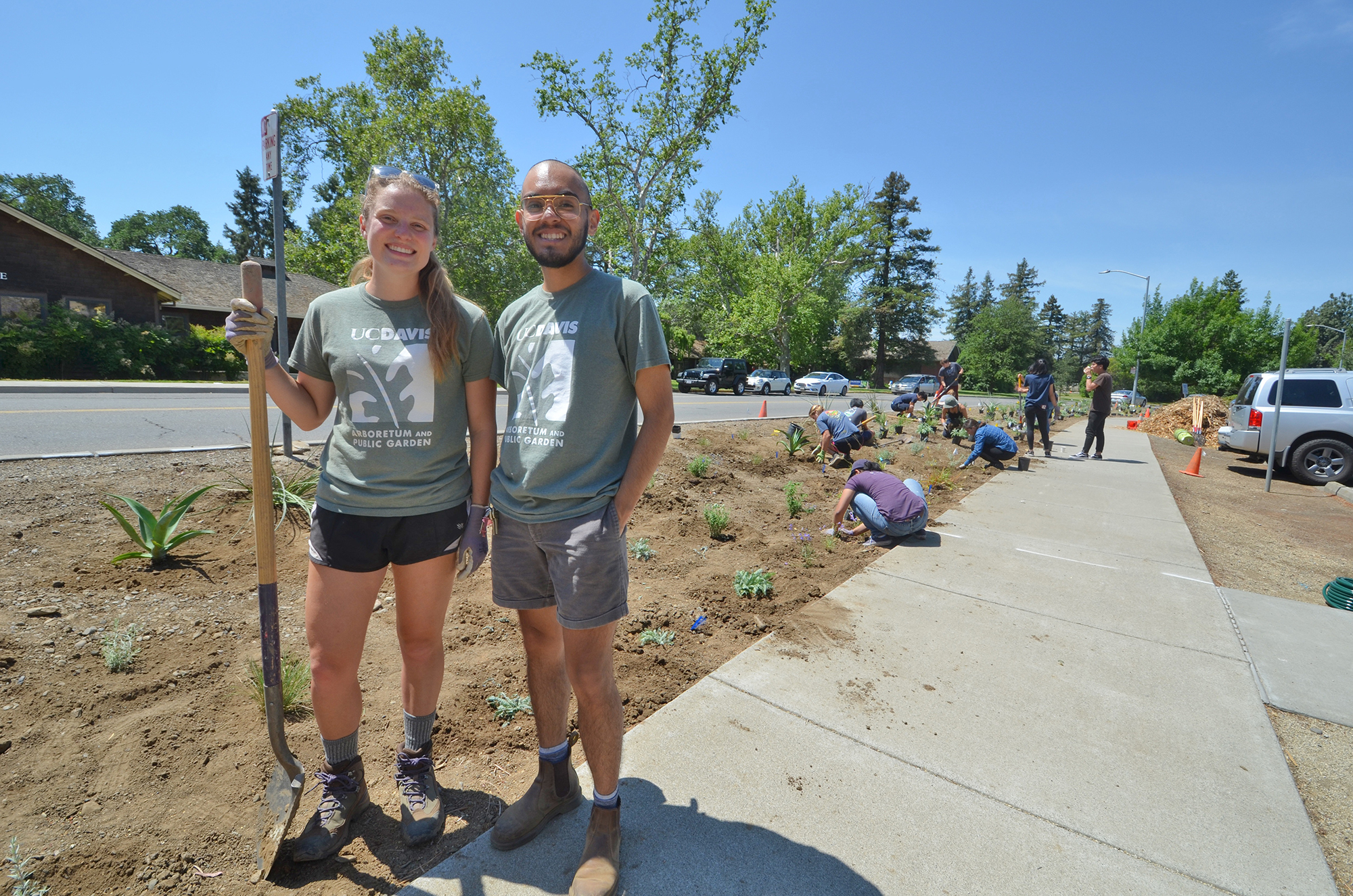 Student interns transform high-water-use lawns into low-maintenance gardens