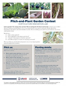 Pitch-and-Plant Garden Contest flyer