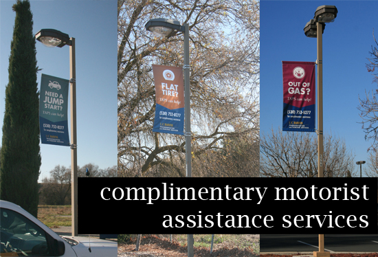 Complimentary motorist assistance services