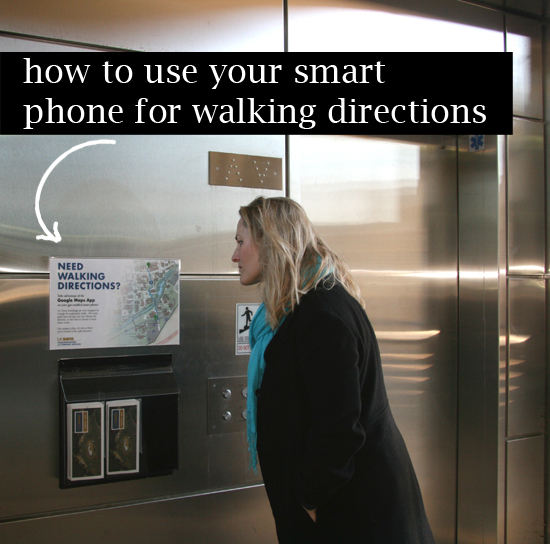 How to use your smart phone for walking directions