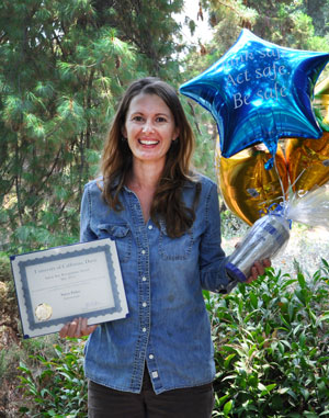 Horticulturist Stacey Parker receives campus Safety Star award