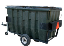 Photo of trash trailers.