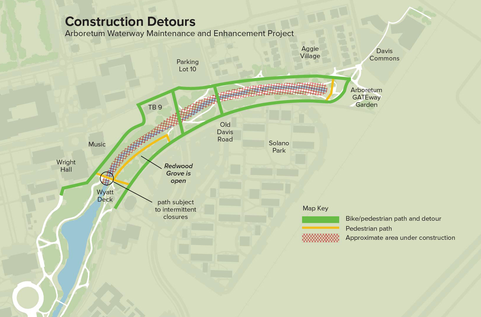 DETOUR NOTICE: Waterway construction scheduled to begin