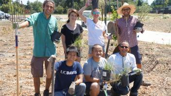Students in the Learning by Leading Sustainable Horticulture internship designed and installed a landscape in the UC Davis Arboretum's Environmental GATEway. .