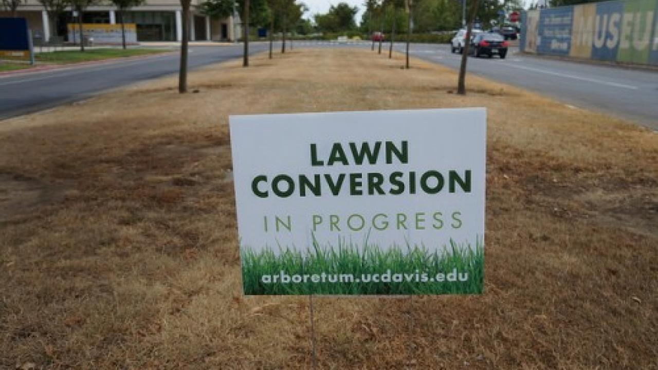 Lawn conversion sign
