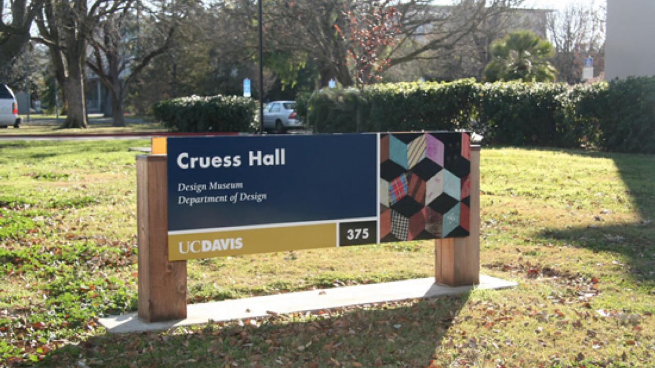 Cruess Hall sign
