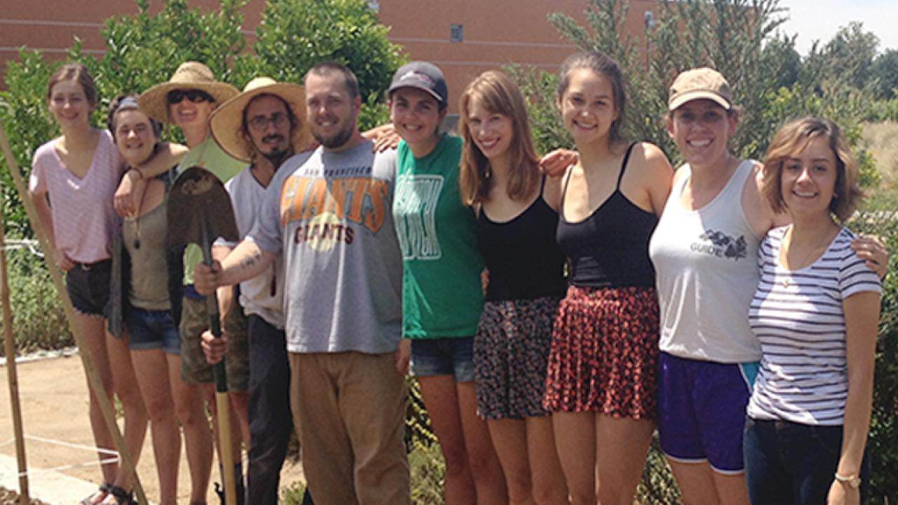 Edible landscape interns pilot campus gleaning projects