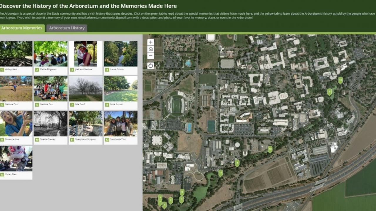 Image of the online story map created by Ella Groff, Learning by Leading Museum Education co-coordinator