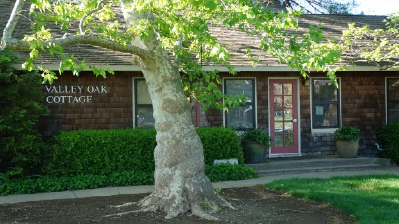 Campus parking can be redeemed by Friends of the UC Davis Arboretum and Public Garden at the Arboretum Headquarters (pictured).