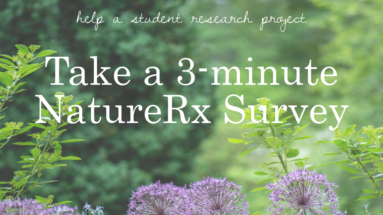 Image of naturerx survey promotiong.