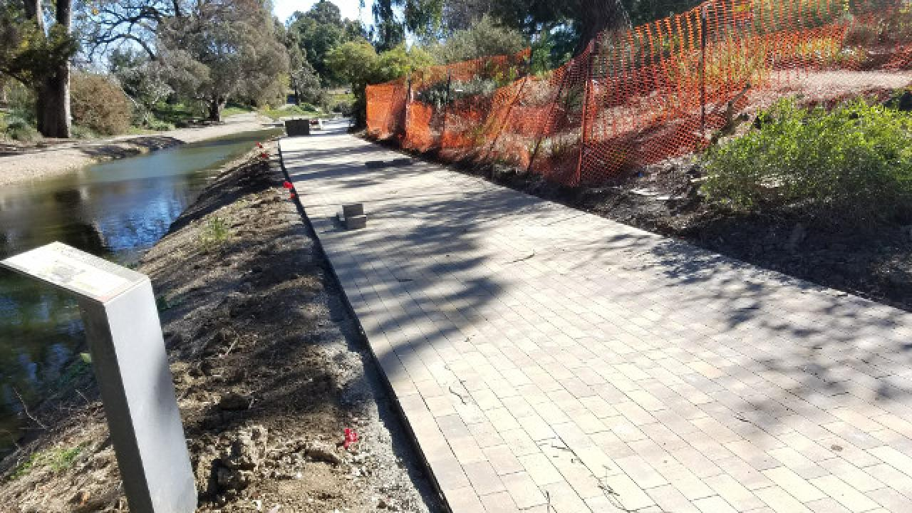 New paver path