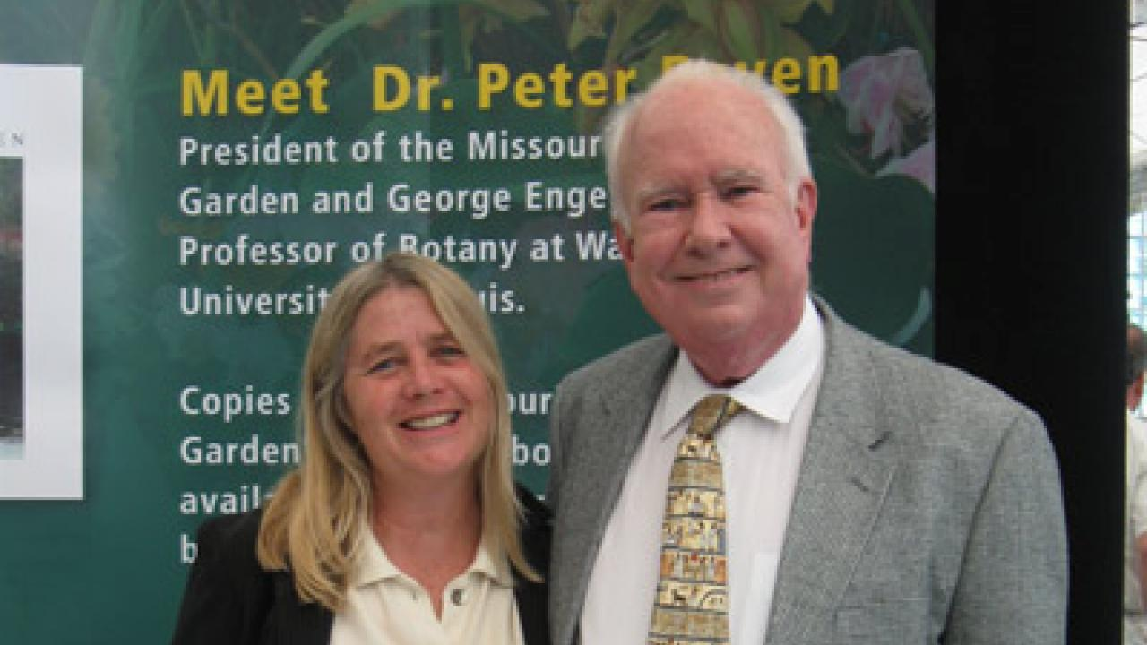 Mary Burke and Peter Raven