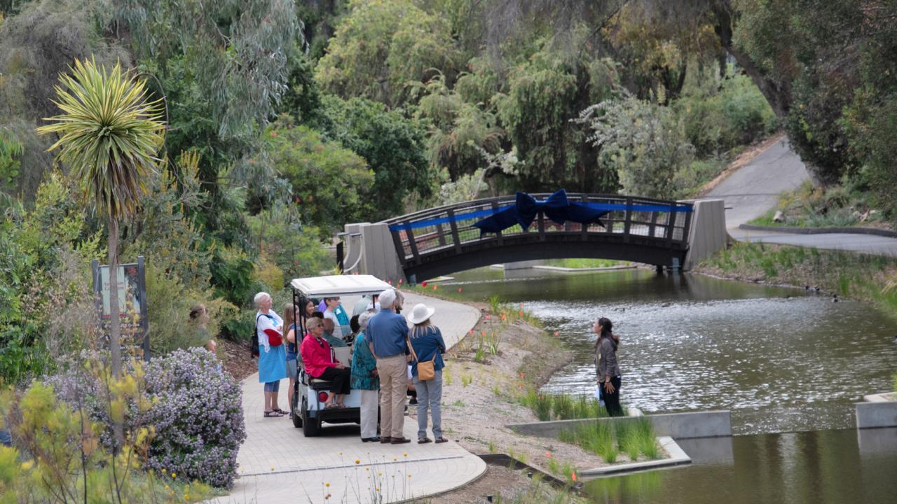 Image of a tour of the UC Davis Arboretum.