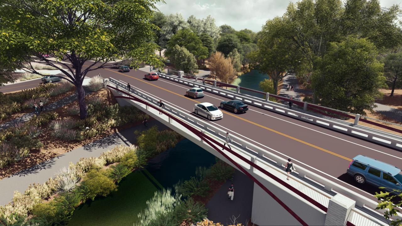 Image of La Rue Road Bridge rendering.