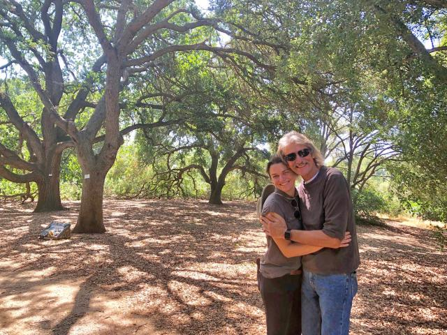 Image of Abbey Hart and her dad. Submitted in honor of the Friends of the UC Davis Arboretum and Public Garden 50th Anniversary.