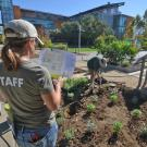 Photo of Stacey Parker, GATEways horticulturist at Good Life Garden