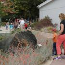 Image of preschool students visiting the UC Davis California Rock Garden.