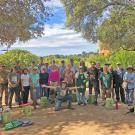 Image of volunteers and staff of the UC Davis Arboretum and Public Garden in the Good Life Garden.