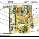 Draft rendering of the Animal Science GATEway Garden base plan