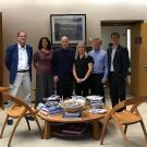 Image of Mary Burke (fourth from left) poses with Dr. David Ackerly (UC Berkeley), Dr. Erika Zavaleta (UC Santa Cruz), Governor Jerry Brown, Todd Keeler-Wolf (CA Department of Fish and Wildlife) and Dan Glusencamp (California Native Plant Society).
