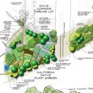 Detail image of draft Downtown Davis Parkway Greening Project site plan