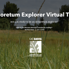 Image of the opening graphic of the Arboretum Virtual Tour created by Learning by Leading Museum Education students.