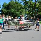 Arboretum and Public Garden Learning by Leading students in the UC Davis Picnic Day Parade.