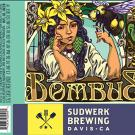 Image of Bombus beer label creating by Sudwerk in honor of the yellow-faced bumble bee and the UC Davis Arboretum and Public Garden.