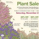 Image of ad for clearance plant sale.