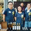 Image of UC Davis Olive Oil table at Taste 2018.