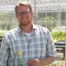 Nursery Manager Taylor Lewis in Arboretum Teaching Nursery