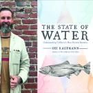Image of Obi Kaufmann together with an image of his book cover The State of Water in California.