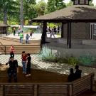 Rendering of new design for Wyatt Deck in the UC Davis Arboretum.