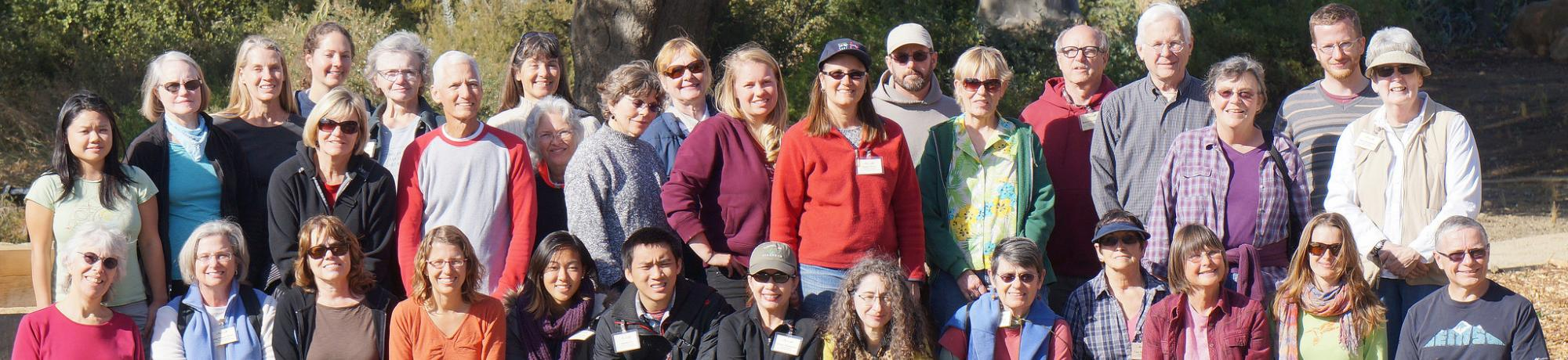 Image of members and volunteers at the UC Davis Arboretum GATEway Garden