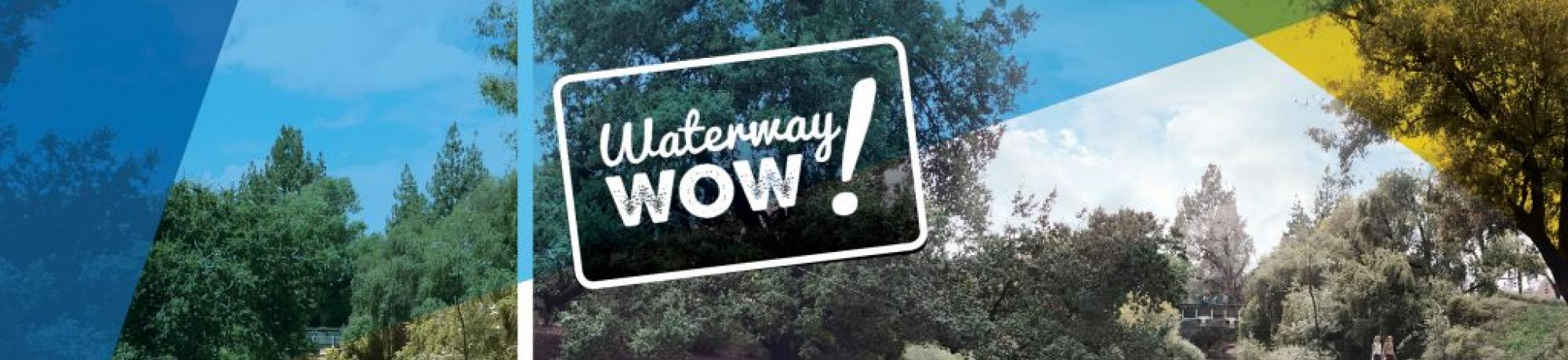 Image of a before and after image of the Arboretum Waterway.